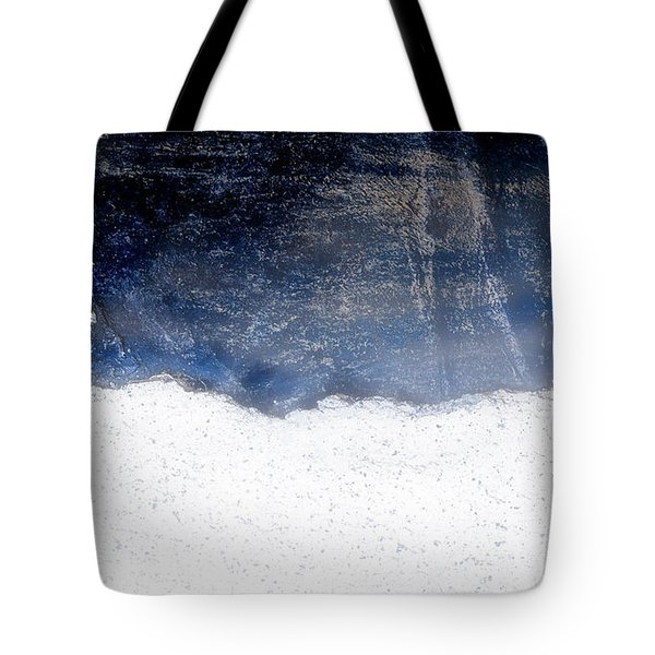 Sea, Satellite - Coast Line On Blue Ocean Illusion Tote Bag