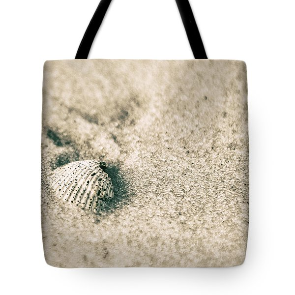 Tote Bag featuring the photograph Sea Shell On Beach  by John McGraw