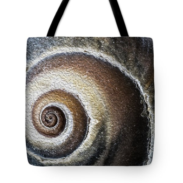 Sea Shell Rendered As Oil Tote Bag