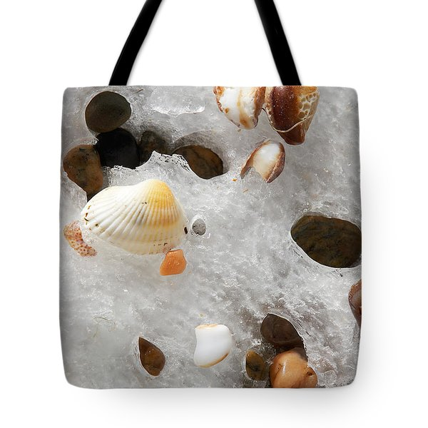 Sea Shells Rocks And Ice Tote Bag by Matt Suess