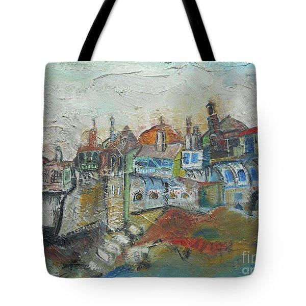 Sea Shore Village Tote Bag