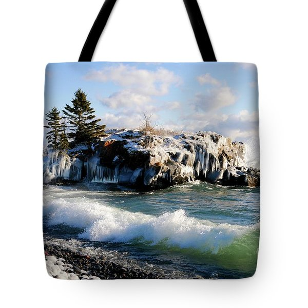 Sea Smoke At Hollow Rock Tote Bag