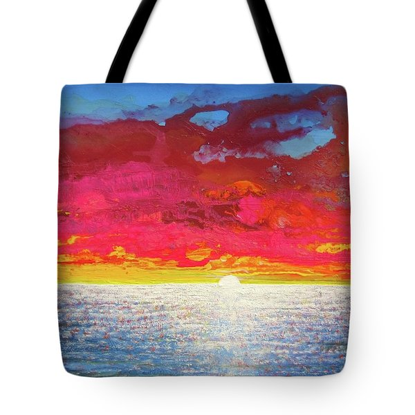 Tote Bag featuring the painting Sea Splendor by Mary Ellen Frazee