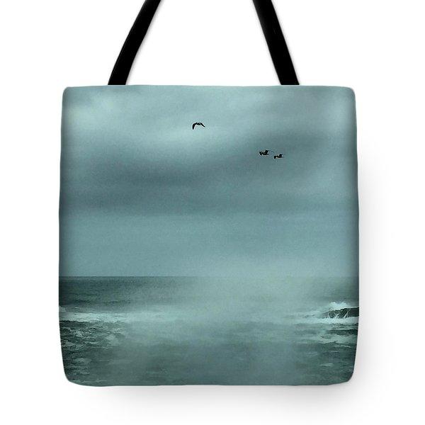 Sea Spray Tote Bag by Christine Lathrop
