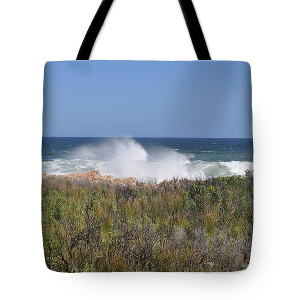 Tote Bag featuring the photograph Sea Spray by Linda Ferreira