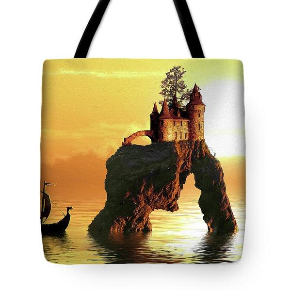 Sea Stack Castle Tote Bag