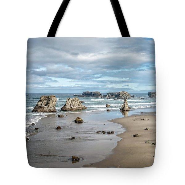 Sea Stacks Tote Bag