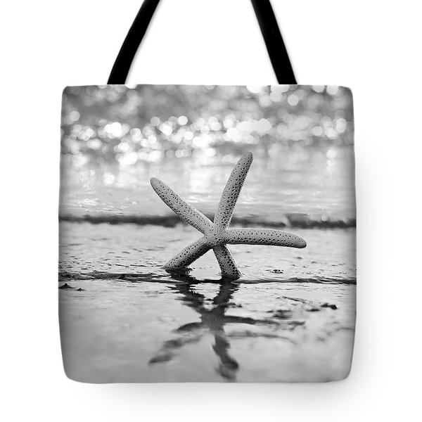Sea Star Bw Tote Bag