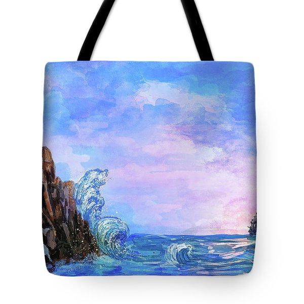 Sea Stories 2  Tote Bag by Andrzej Szczerski