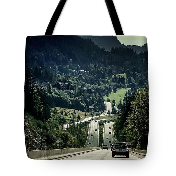 Sea To Sky Highway Tote Bag
