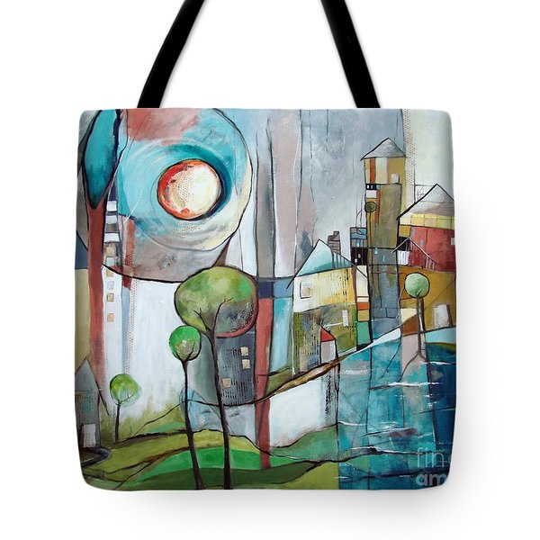 Sea Town Tote Bag