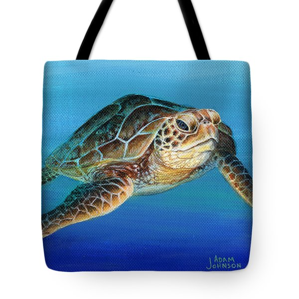 Sea Turtle 1 Of 3 Tote Bag
