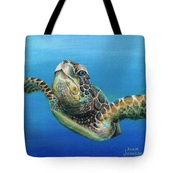 Sea Turtle 3 Of 3 Tote Bag