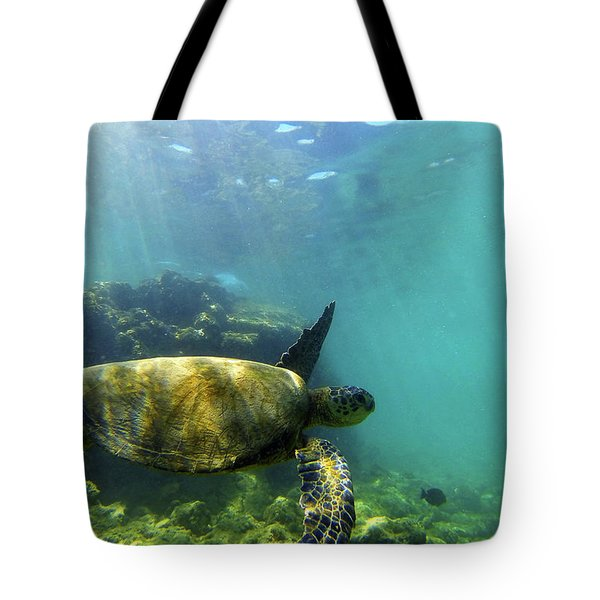 Tote Bag featuring the photograph Sea Turtle #5 by Anthony Jones