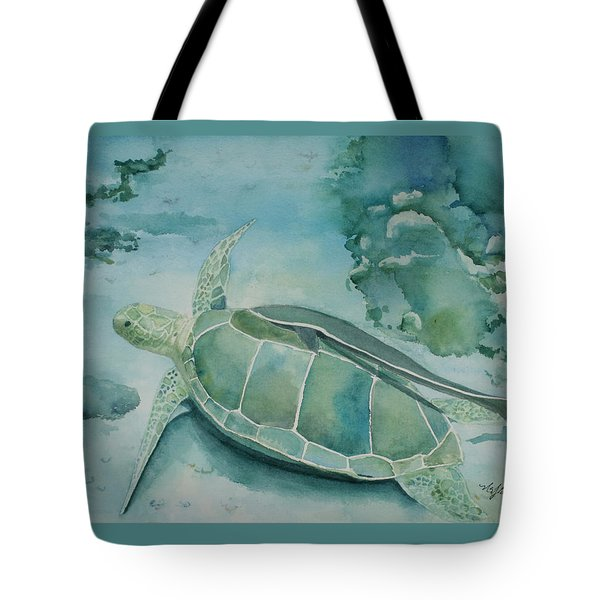 Sea Turtle And Friend Tote Bag