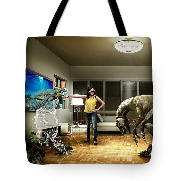 Sea Turtle Art Tote Bag by Marvin Blaine