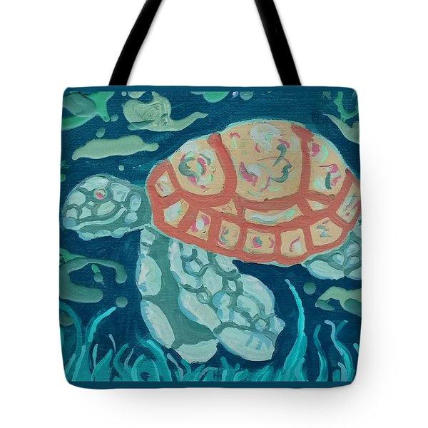 Sea Turtle At Twilight  Tote Bag