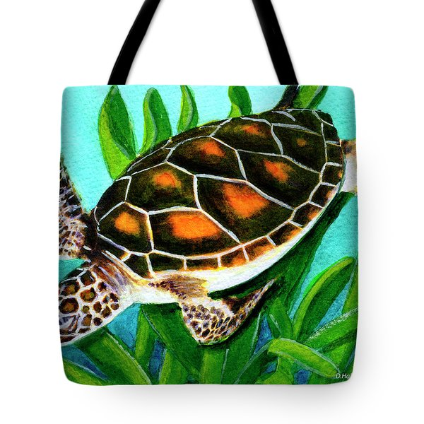 Sea Turtle Honu #352 Tote Bag by Donald k Hall