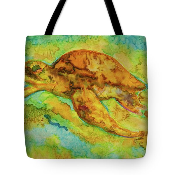 Sea Turtle Tote Bag by Jacqueline Phillips-Weatherly