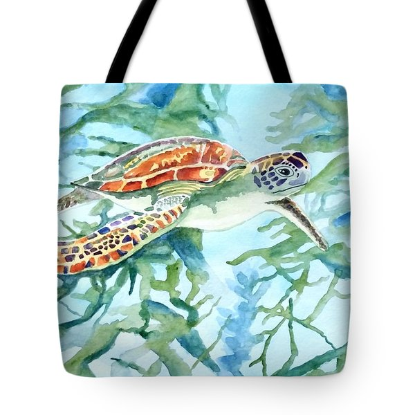 Sea Turtle Series #1 Tote Bag