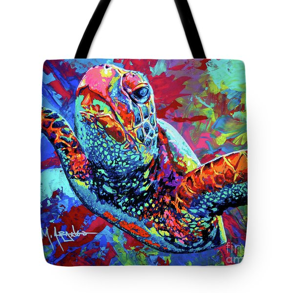 Sea Turtle Tote Bag by Maria Arango