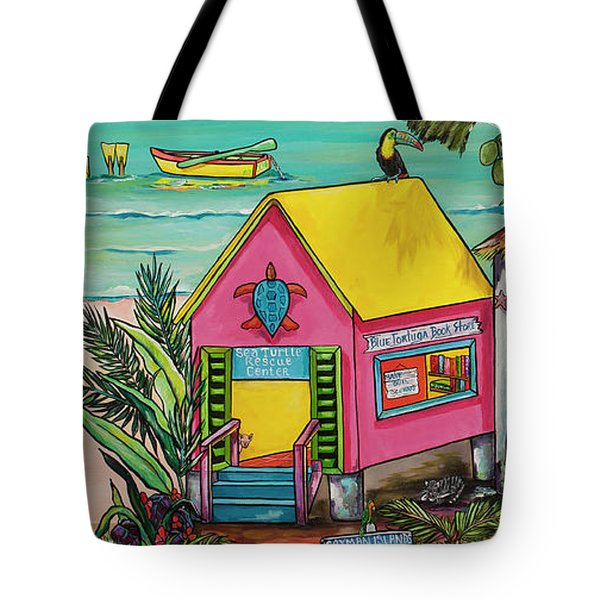 Sea Turtle Rescue Center Tote Bag by Patti Schermerhorn