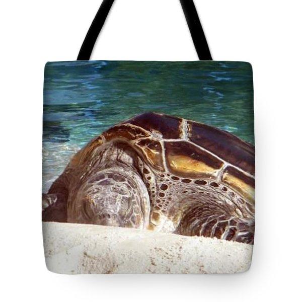 Sea Turtle Resting Tote Bag