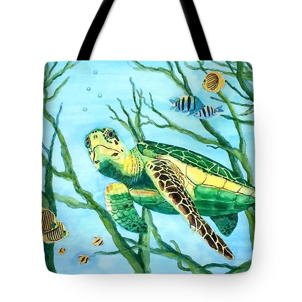 Sea Turtle Series #3 Tote Bag