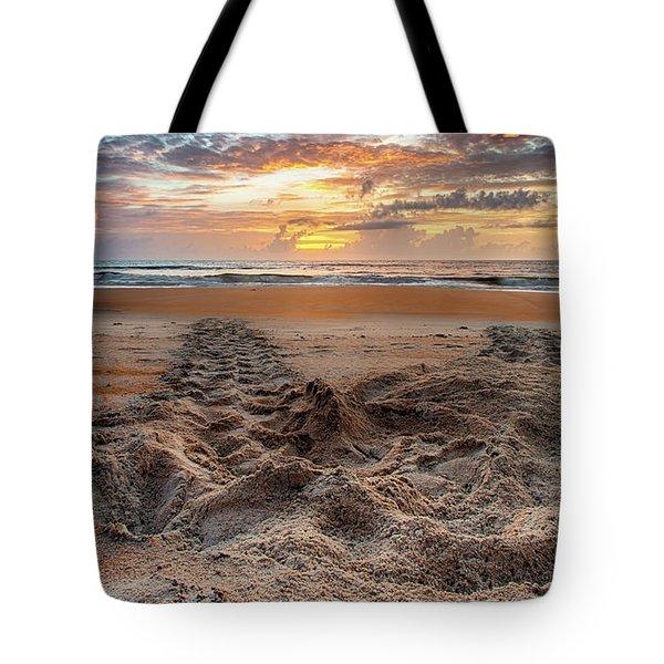 Sea Turtle Trails Tote Bag