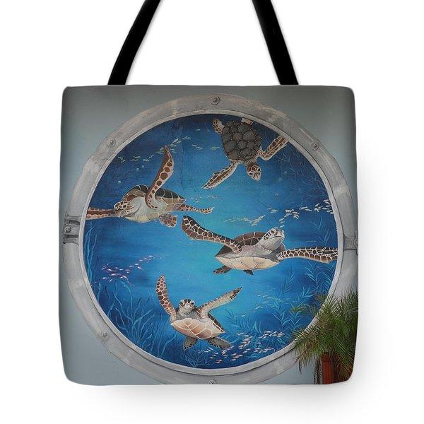 Sea Turtles Tote Bag by Rob Hans