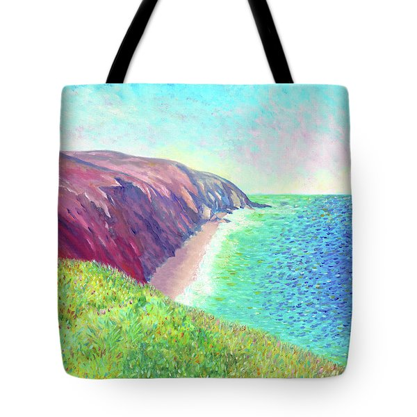 Tote Bag featuring the painting Sea View by Elizabeth Lock