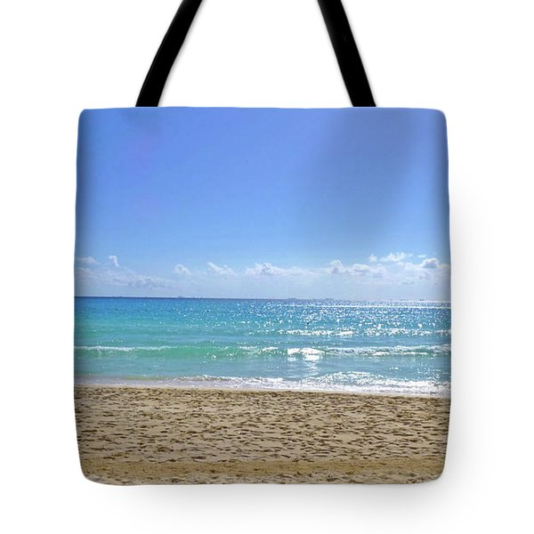 Tote Bag featuring the photograph Sea View M2 by Francesca Mackenney