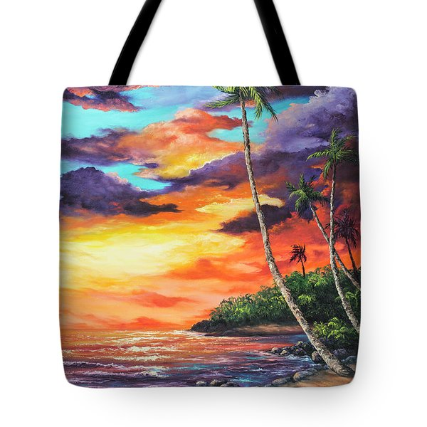 Tote Bag featuring the painting Sea Wall Lahaina by Darice Machel McGuire