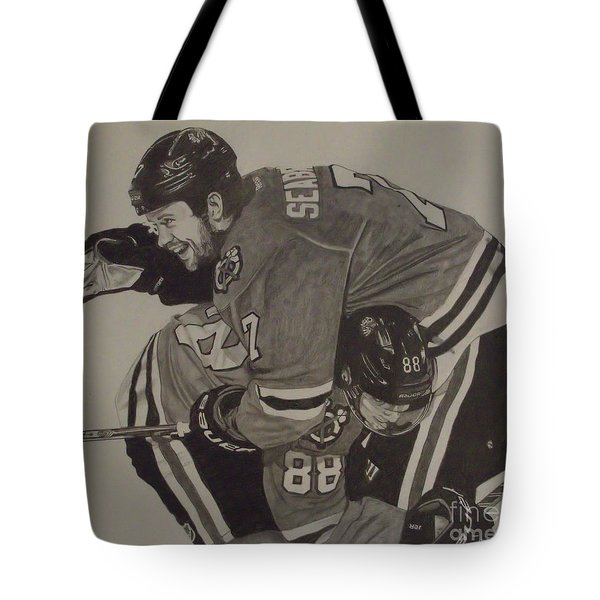 Seabs Scores The Winner Tote Bag by Melissa Goodrich