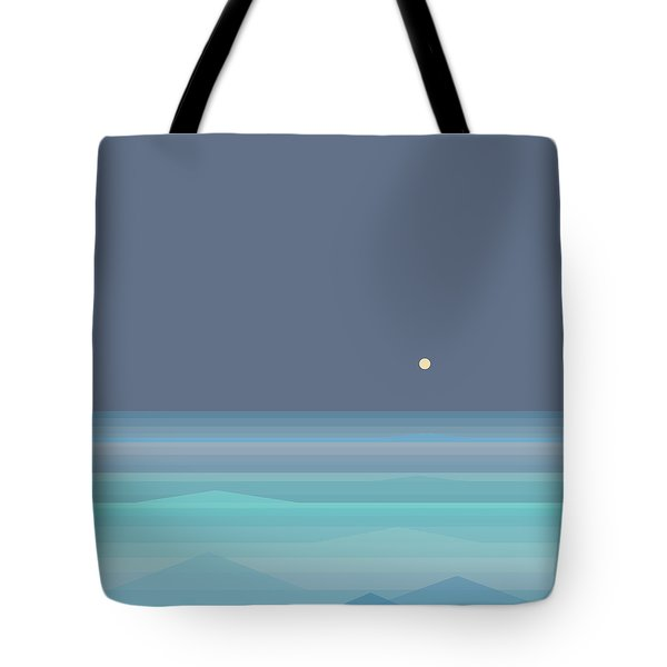 Seafoam Moonrise Tote Bag