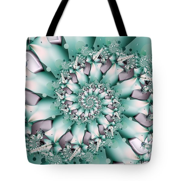 Tote Bag featuring the digital art Seafoam Spring by Michelle H