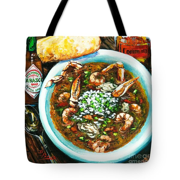Tote Bag featuring the painting Seafood Gumbo by Dianne Parks