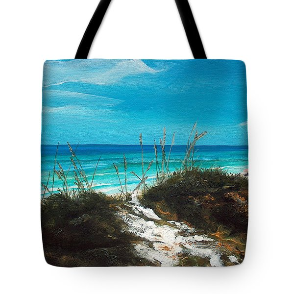 Seagrove Beach Florida Tote Bag by Racquel Morgan