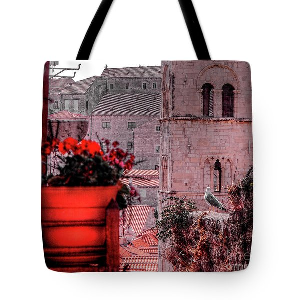 Seagull Admiring The View Tote Bag