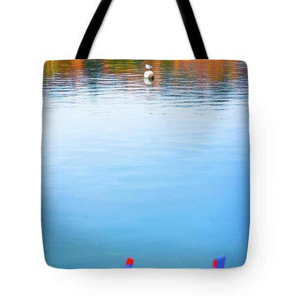 Tote Bag featuring the photograph Seagull And Boat by Silvia Ganora