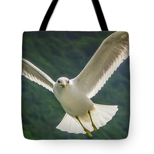 Seagull At The Fjord Tote Bag