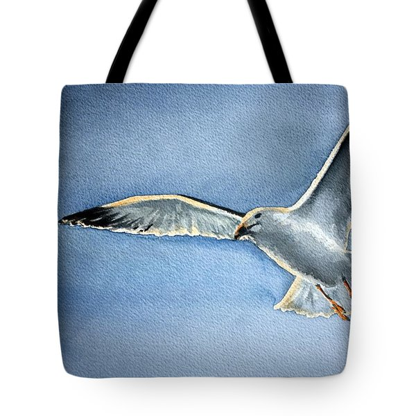 Tote Bag featuring the painting Seagull by Eleonora Perlic
