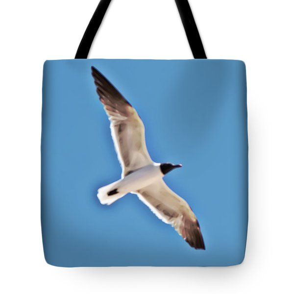 Seagull In Flight Tote Bag by Gina O'Brien
