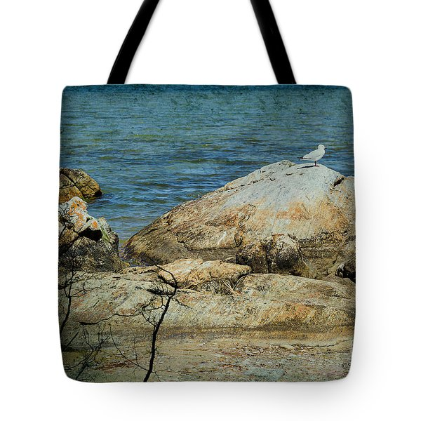 Seagull On A Rock Tote Bag