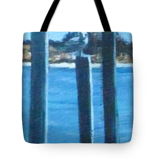 Seagull On A Stick Tote Bag