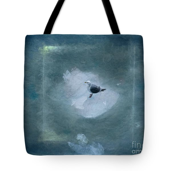 Seagull On Iceflow Tote Bag by Victoria Harrington