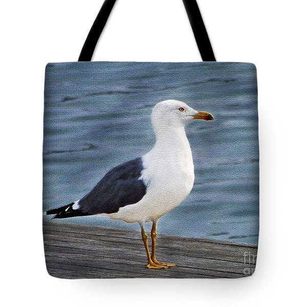 Seagull Portrait Tote Bag