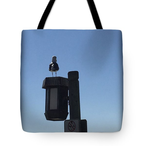 Seagull Sentry Tote Bag by Russell Keating