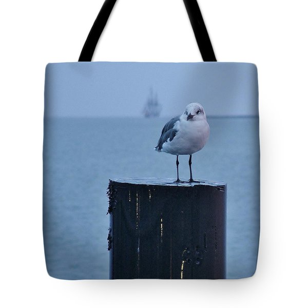 Seagull Ship Tote Bag