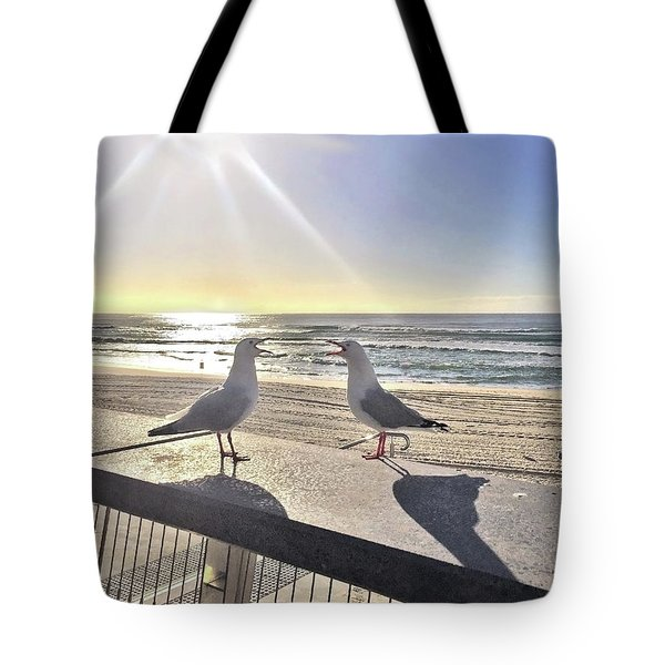 Seagull Sonnet  Tote Bag